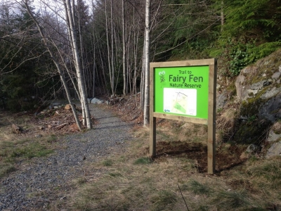 Fairy Fen--Trailhead at Thompson Road