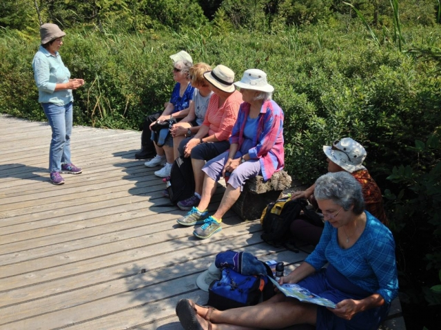 The Elders Council for BC Parks take a break from a hike around Killarney Lake (August 2015)