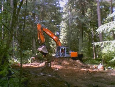 Construction begins on a road into Cape Roger Curtis