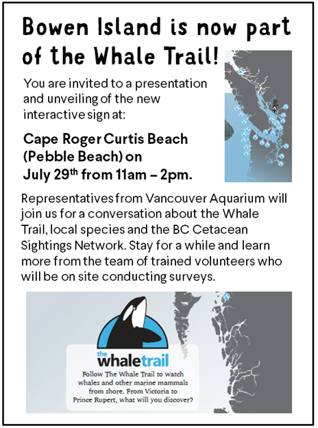 Invitation to the Whale Trail sign unveiling
