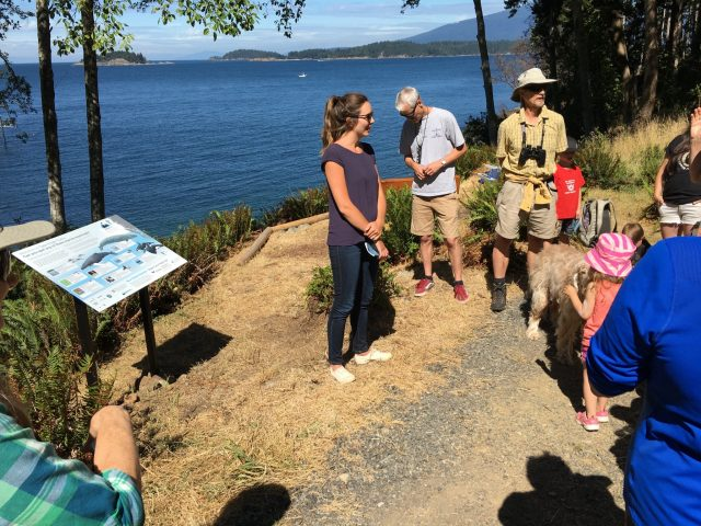 Unveiling of the Whale Trail sign