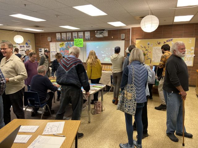Community members at the Marine Atlas Open House (October 2019)