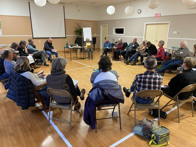 Meeting of Howe Sound Conservation groups, Gambier Island