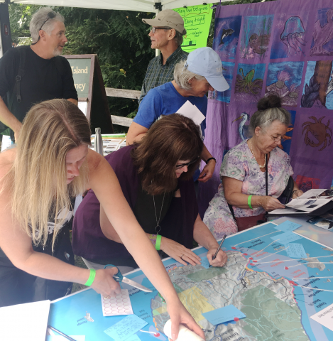 People contributing to the Marine Atlas at Bowfest 2019
