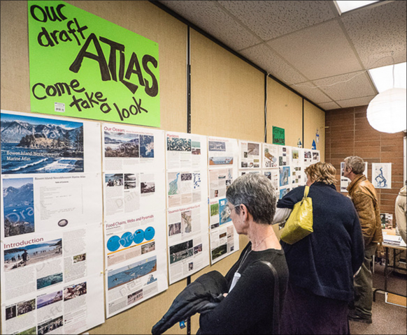 The Marine Atlas draft at the October 2019 Open House