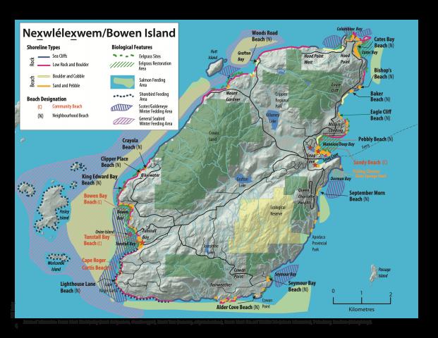 Marine Atlas map of Bowen Island